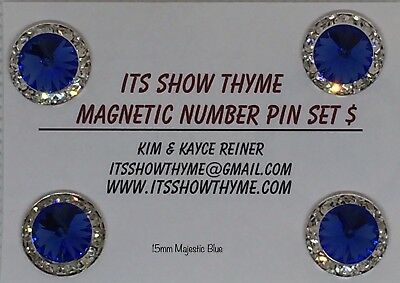 Competition number holder 15MM Graphite Magnet Number Pin