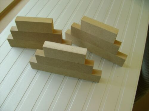 1 x Sets of 3 Stackers MDF Free Standing Blocks 18mm wooden plaques Blanks