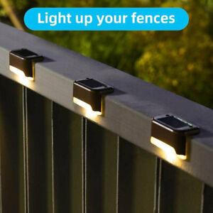 4pcs Solarleuchte LED Zaunleuchte Wegbeleuchtung Gartenlampe Treppenlicht Lampe