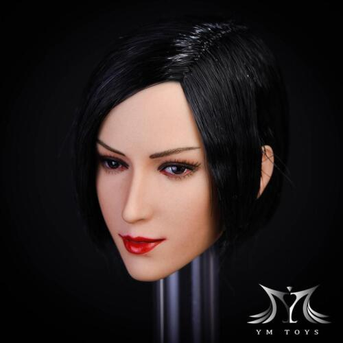 YMTOYS 1//6 Asian Female Head Carved Sculpt Aier Fit Phicen  Seamless Body Model