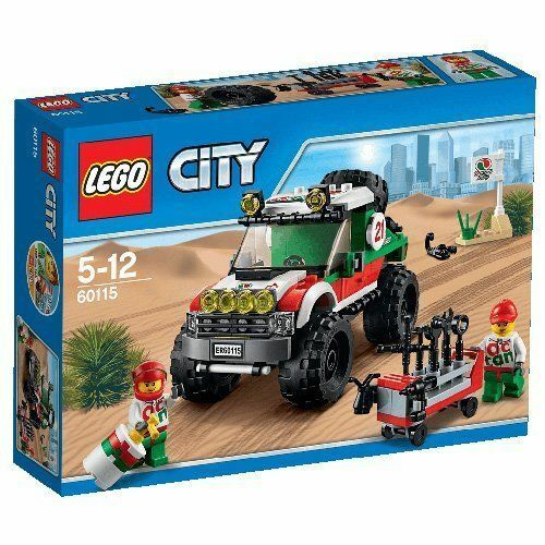 x 4 LEGO bluastra Scuro Grigio // DK grigio pietra STAFFA 1X2-2x4 93274 NUOVO.