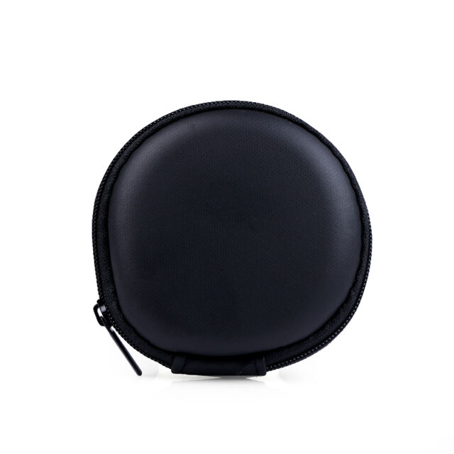 Mini Portable Hard Square Storage Pouch Case Zipper Round Bag Earphone Headset