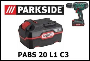 3Ah Bateria Taladro Atornillador Parkside PAP 20 A2 Battery Drill PABS 20 Li C3