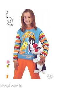 PIJAMA-NINA-PIOLIN-Pigiama-Bambina-Titti-Tweety-Girl-Pajamas-Pyjama-Tweety-T-8