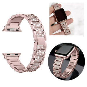 For Apple Watch Series 5 4 3 2 1 Milanese Bling Stainless Steel Watch Band Strap Ebay