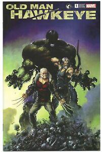 Old-Man-Hawkeye-1-Marvel-2018-NM-Clayton-Crain-Variant-Wolverine-Logan-Hulk