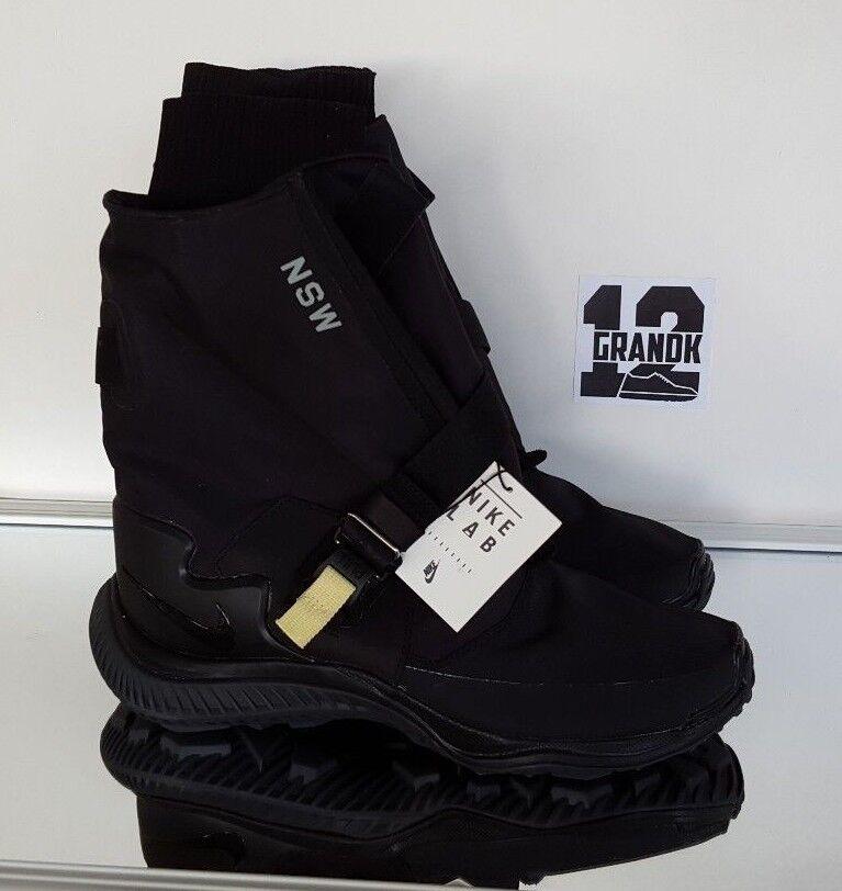 nike Femme sz 7,5 gaiter nike nikelab nsw gaiter 7,5 boot (aa0528 001) blak / Noir -anthracite 40a459