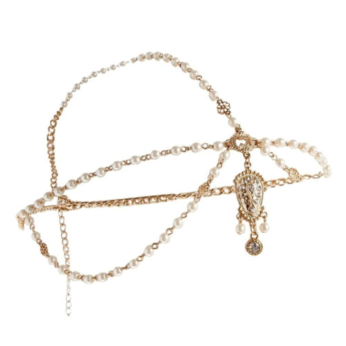 Womens Lovely Metal Rhinestone Head Chain Jewelry Headbands Head Piece Hairbands