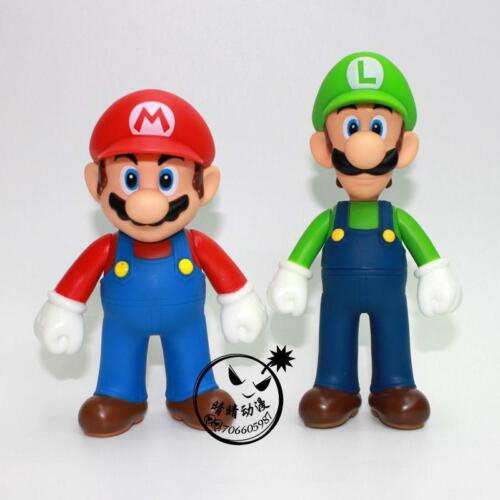 Lot 2 New Super Mario Bros Brothers Luigi Toy PVC Action Figure Doll Kids Gift