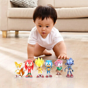 The-Hedgehog-Figures-PVC-Characters-Figure-Boys-Collection-Toys-Set-of-6X-Sonic