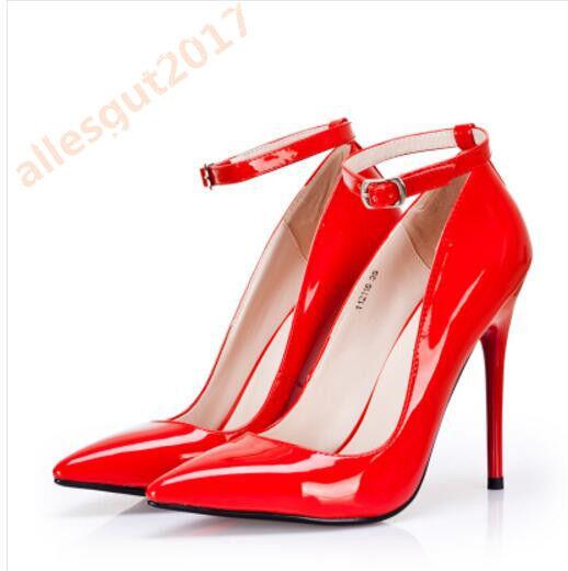 Gr.35-45 Fesselriemen Ol Business High High High Heels 14CM Damenschuhe Pumps Spitze Neu ae2306