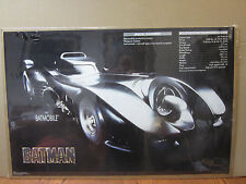 Vintage 1989 DC Comics Batman The batmobile poster 5217