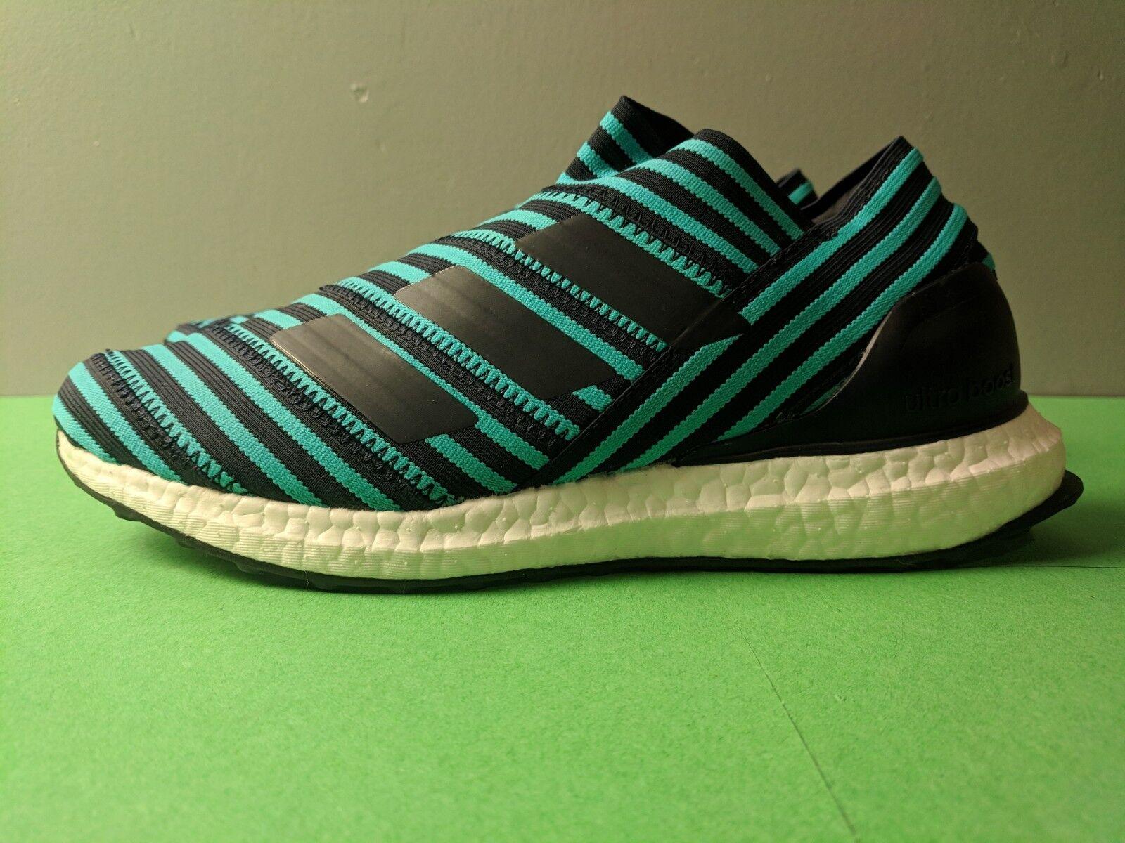 Adidas Nemeziz Tango 17 + 360 Agility CG3658 Soccer Black Aqua Men's Size 7.5