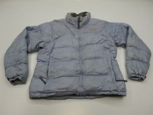 f9ec892095 THE NORTH FACE Women s Size L 700 Fill Goose Down Light Blue Puffer ...
