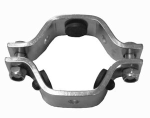 """STAINLESS SANITARY TUBE PIPE CLAMP 2/"""" HANGER STAND OFF SUPPORT 51mm"""