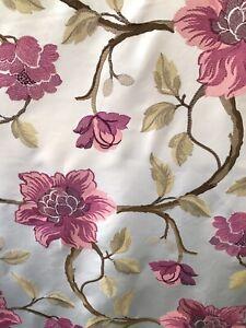 Brodé Rose Fausse Soie Rideau Tissu 4.20 M Heavy-afficher Le Titre D'origine