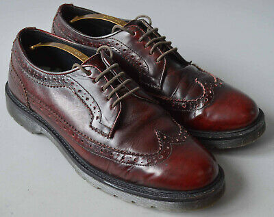 men's topman burgundy casual lace up leather brogue shoes