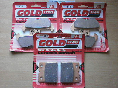 BMW K 1200 RS K1200RS (1998) FULL SET FRONT & REAR BRAKE PADS (3xSets) SINTERED