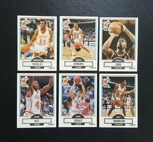 Fleer-90-NBA-Basketball-Cards-x-6-Miami-Heat