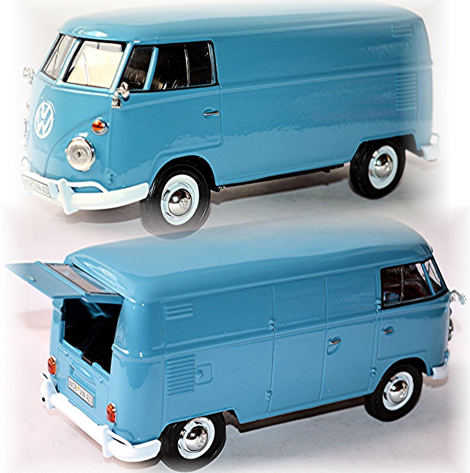 VW volkswagen t1 Type 2 Fourgon 1950-67 Delivery Van Bleu bleu 1 24
