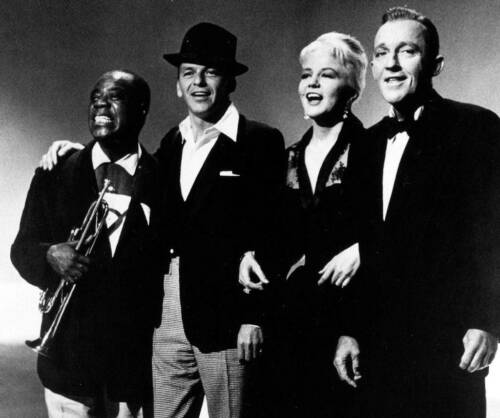 Louis Armstrong Bing Crosby Frank Sinatra Old Photo Peggy Lee