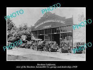 OLD-LARGE-HISTORIC-PHOTO-OF-STOCKTON-CALIFORNIA-THE-AUTOMOBILE-Co-GARAGE-c1920