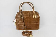 Tasche BETTY BARCLAY Leder Synthetisch Braun mit Schlüssel und Vorhängeschloss