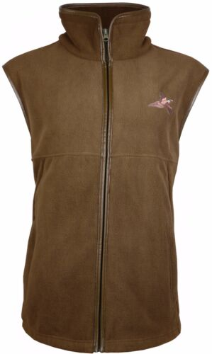 Pheasant Embroided Fleece Gilet Shooting Body Warmer Vest Hunting Jumper 002