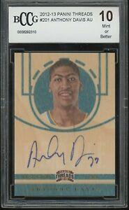 2012-13-panini-threads-autograph-ANTHONY-DAVIS-rookie-BGS-BCCG-10