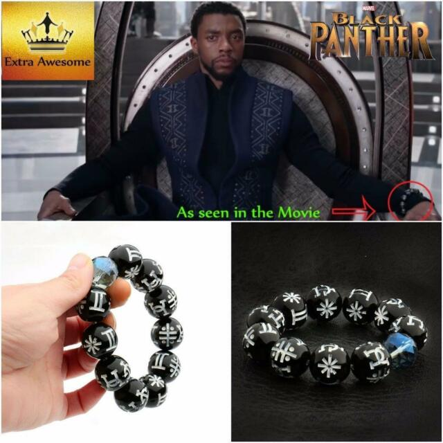 Frequently bought together. USA Black Panther KIMOYO Bracelet Beads Wakanda  King T Challa Cosplay Jewelry 2051c8a3992d