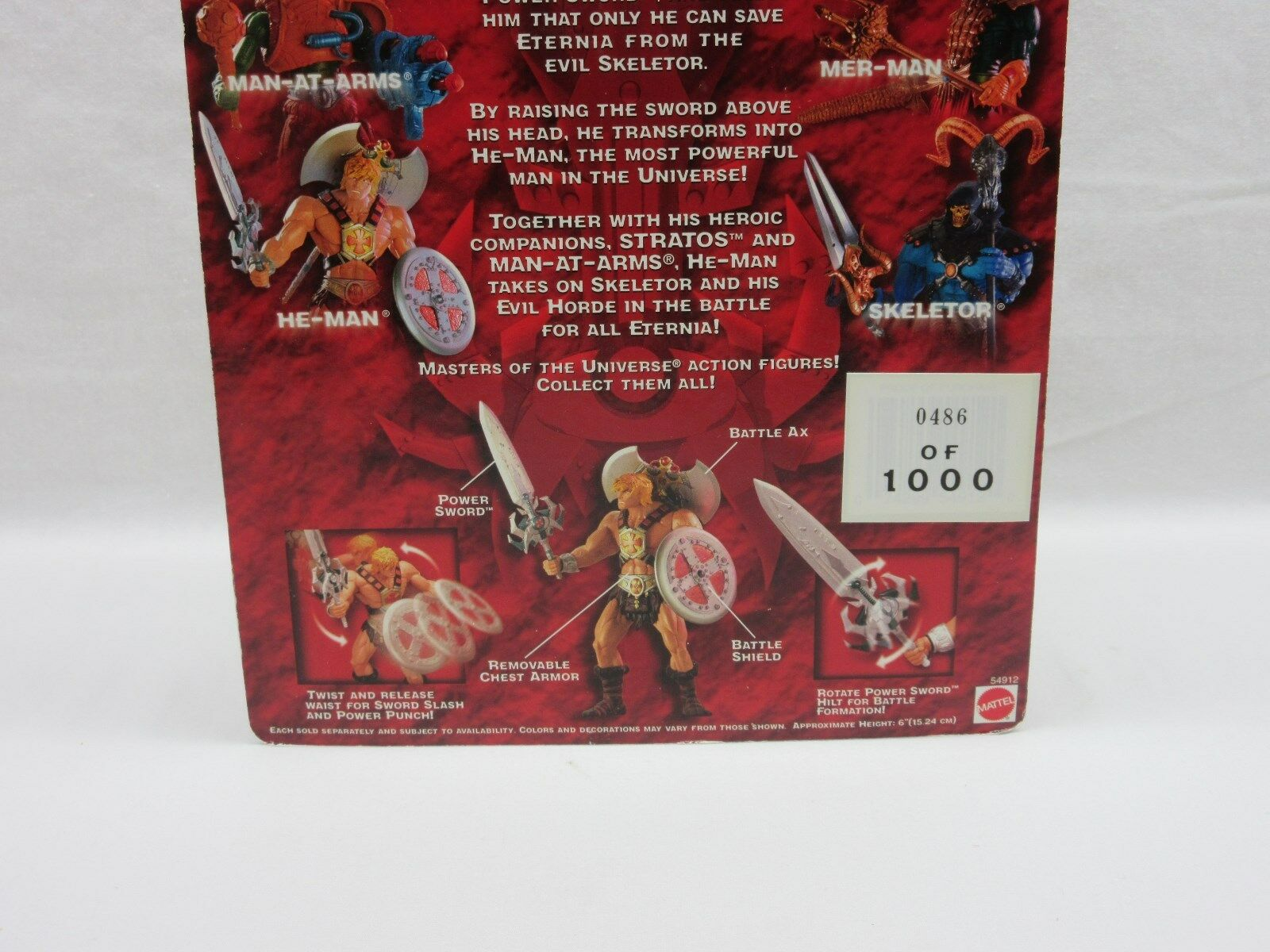 MOTU,200X HE-MAN,Comic Con Exclusive, 486,Masters of the the the Universe,MOC,Sealed 8b09ea