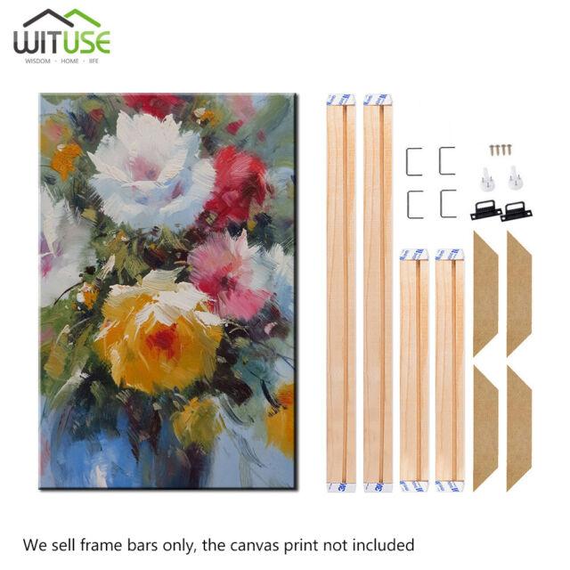 16x24 Inch Stretcher Bars,Wood Canvas Frame Kit,DIY Canvas framm for Oil Painting,Art Stretcher Bars 40x60cm