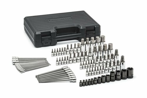 GearWrench 80742 Master SAE//Metric Hex and Torx Bit Socket Set 84 Piece