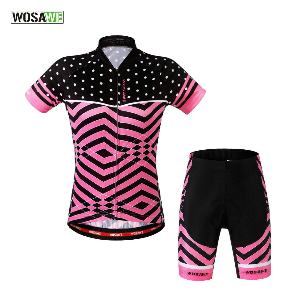Women's Sports Wear Team Cycling Jersey Sets Bike Bicycle Short  Sleeve Clothes  sale