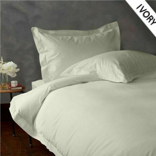 800 TC EGYPTIAN COTTON BEDDING 3 PCs FITTED SHEET IVORY COLOR