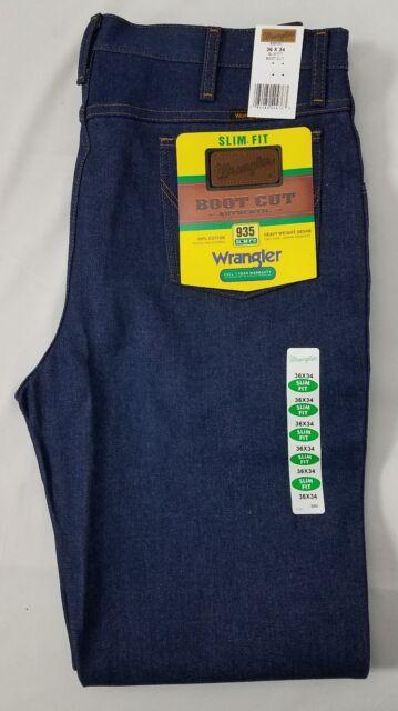 72ab62f8 Wrangler Men's Jeans 935 Slim Fit Rigid Boot Cut 36 34 for sale ...