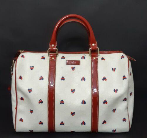 GUCCI GG Hearts Monogram Boston Bag