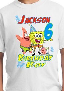 Image Is Loading Spongebob Party Supplies Birthday Shirt