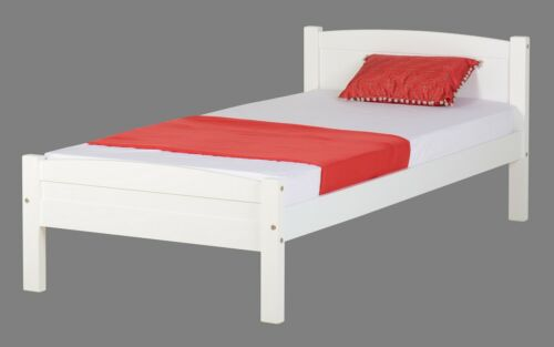 AMBER BED 3ft SINGLE BED FRAME IN WHITE OR  ANTIQUE PINE