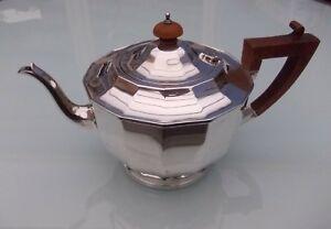 Théière En Argent Poinçon Anglais De Style Art-déco - 675 Gr Produits Vente Chaude