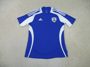 Adidas Israel Soccer Jersey Adult Small Blue Whte Lightweight ...