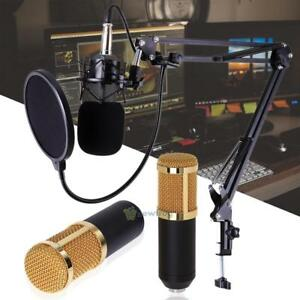 Pro-BM800-Kondensator-Mikrofon-Kit-Studio-Aufzeichnung-Boom-Stand-Klingen-Set
