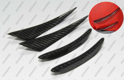 Universal Carbon Fiber Canards Fins Spoilers for Alfa Romeo 147 156 Giulia