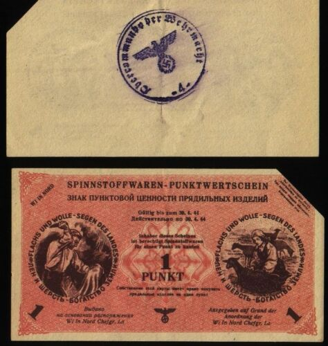 Russia Germany Ostland Wi in nord 1 Punkt 1943//1944 KR#35 canceled
