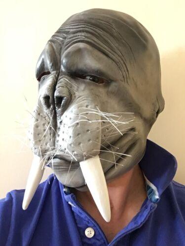 Funny Walrus Mask Sea Lion Mammal Animal Full Head Latex Fancy Dress Costume