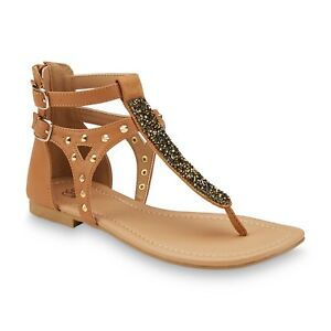 71433ccb2183 New Womens Route 66 Angeline Gladiator Sandal Style 52188 Beige 107Q ...