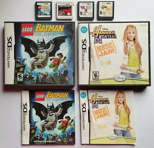 ASSTD Nintendo DS Games Bundle: Batman Hannah Montana Spy Hunter ORIGINAL
