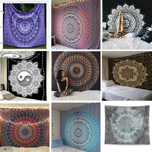 Indian-Mandala-Tapestry-Totem-Bohemian-Hippie-Wall-Hanging-Queen-Bedspread-Throw