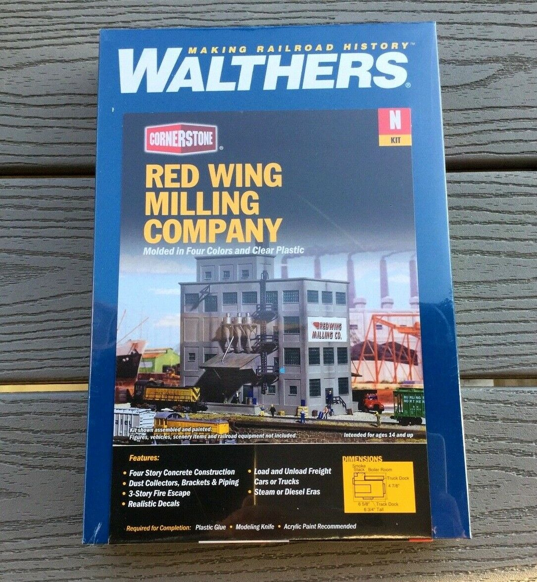 WALTHERS 1 160 N SCALE CORNERSTONE RED WING MILLING BUILDING KIT F S