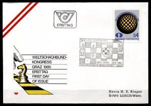Congrès du weltschachbundes (FIDE)- Graz. FDC-lettre. Autriche 1985-es (FIDE)- Graz. FDC-Brief. Österreich 1985afficher le titre d`origine VkBnGZNz-07152112-188696207